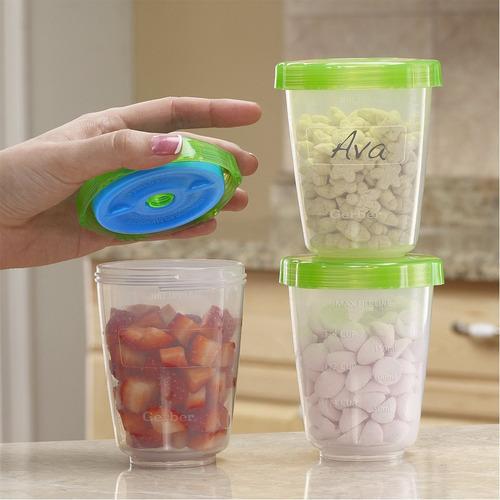 gerber contenedor de alimentos plásticos para comida x3
