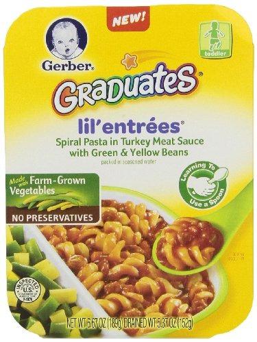 gerber graduates lil entrees spiral pasta con salsa de ca