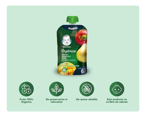 gerber orgánico 3 sabores x36 pouches