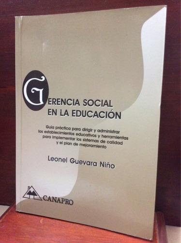 gerencia social en la educación - leonel guevara niño