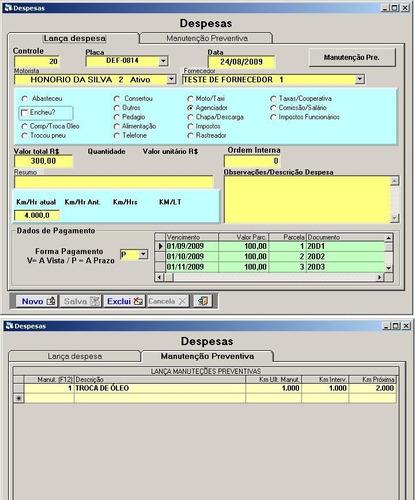gerenciador controle transporte - faturamento gastos frota