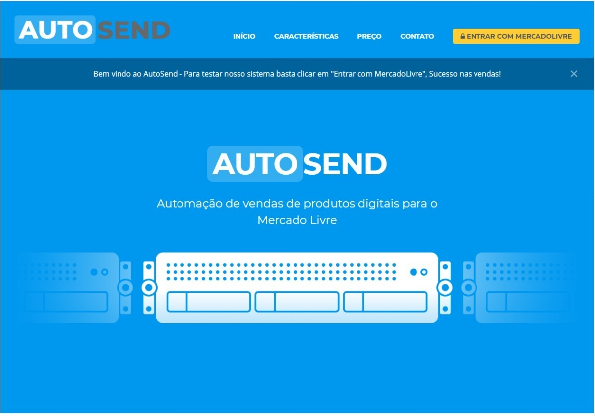 Gerenciador De Venda P Produtos Digitais Mercado Livre Autosend Pacote Completo