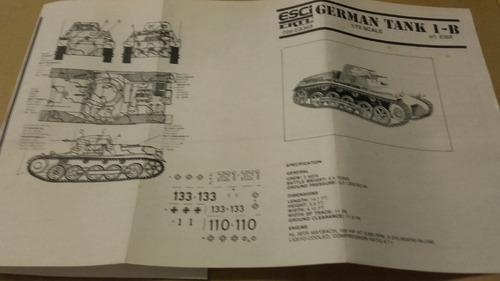 german tank ib. a escala 1/72 esci