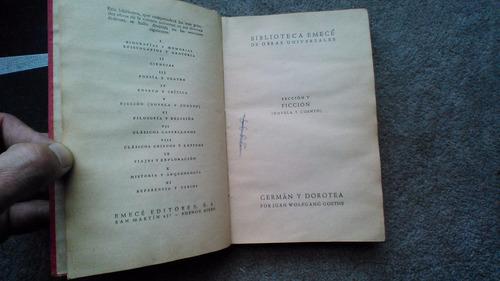 germán y dorotea wolfgang goethe tapas duras 1949