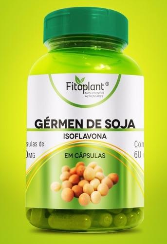 gérmen soja isoflavona pura 60 cáp. 500mg caixa c/ 12 potes premiun original fitoplant