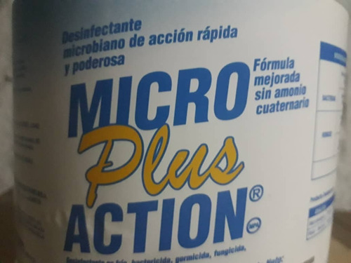 germicida antiséptico micro action plus por galón