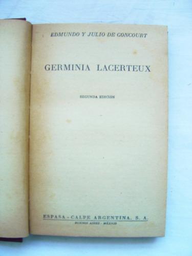 germinia lacerteux / edmundo y julio de goncourt
