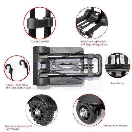 gerowa plegable carro de mano, 4 ruedas plegable 150 libras