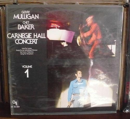 gerry mulligan lp carnegie hall concert con chet baker