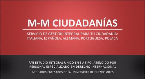 gestión de ciudadanías española, italiana, alemana, polaca