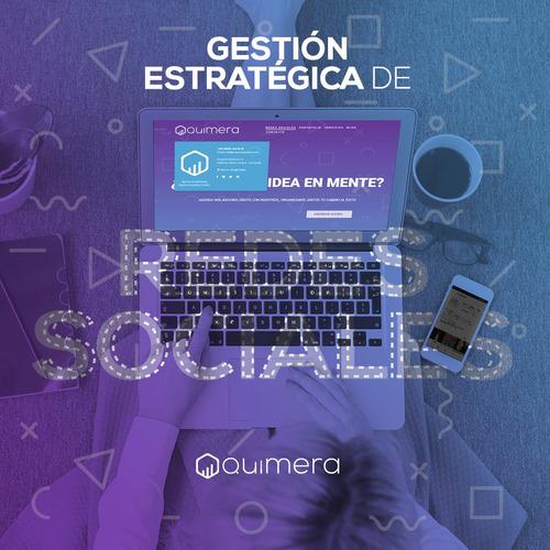 gestión de redes sociales + plan social media marketing
