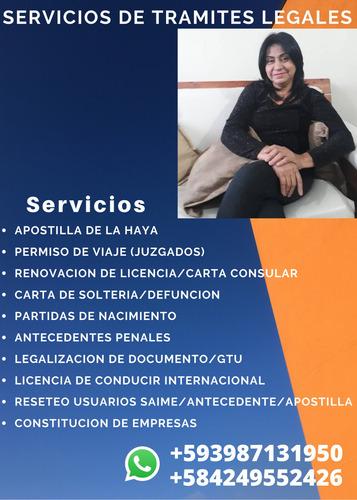 gestionamos tu tramite apostilla y legalizacion venezuela