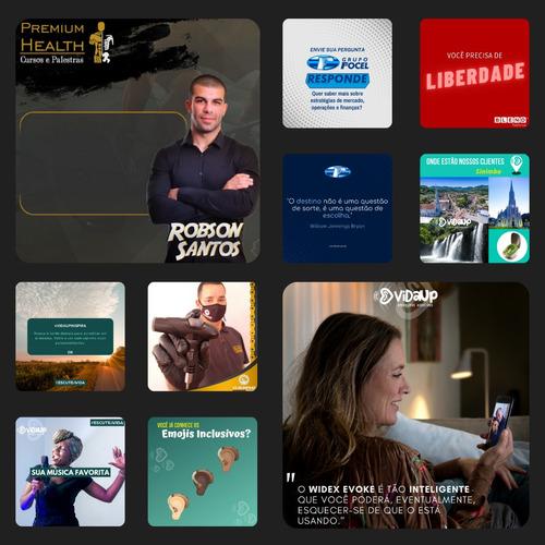 gestão de redes sociais (criação de conteúdos e design)