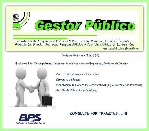 gestor-trámites -bps- dgi -mtss-dgr-mtop-imm-contaduría-part