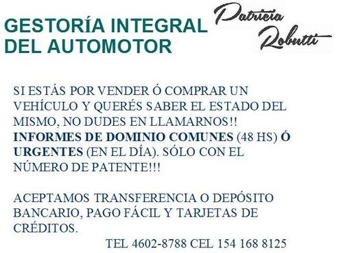 gestoría automotor informes de dominio transferencia-rentas