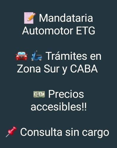 gestoría automotor (mandataria inscripta en dnrpa)