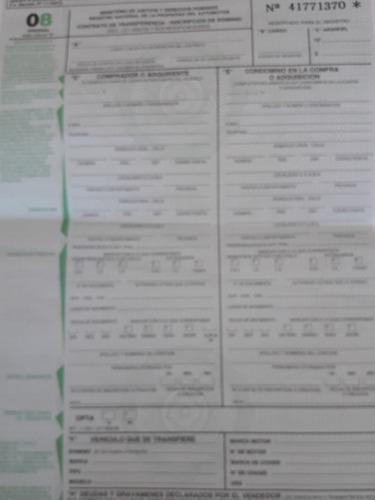 gestoría automotor.duplicado titulo cedula. transferencia 08