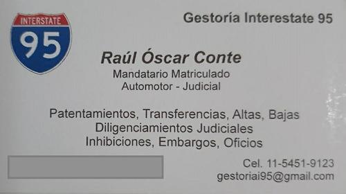 gestoria interstate 95 automotor y judicial