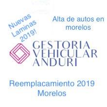 gestoria morelos  reemplacamiento morelos 2019 alta morelos