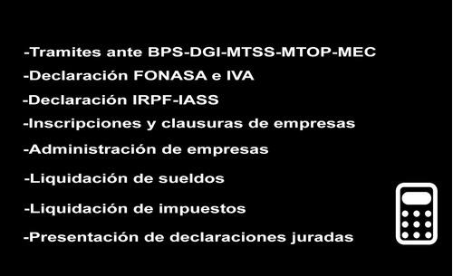 gestoría tramites gral leasing rupe bps dgi dgr bromatología