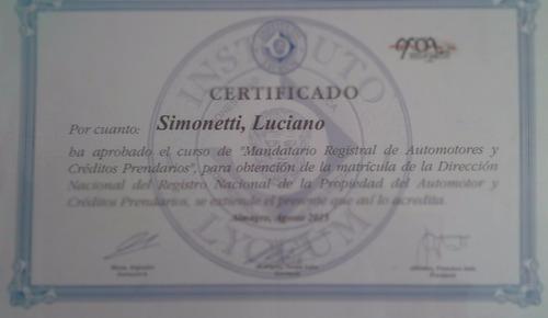 gestoría transferencia auto+servicio de escribano+st08:$1100