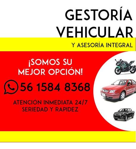 gestoría vehicular cdmx edomex y guerrero atención 24/7