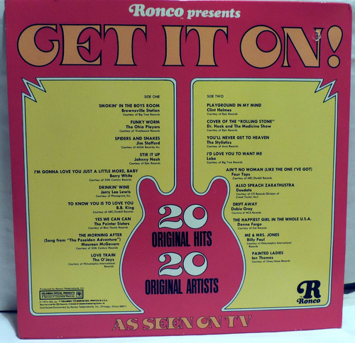 get it on - lp nuevo- barry white, jerry leelewis, b b king-