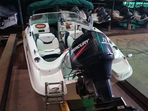 geuna 160 open lancha open motor mercury 75hp poco uso 2010
