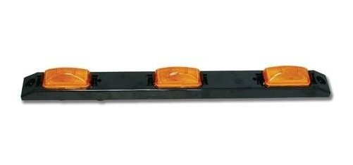 GG Grand General 87090 Black Plastic Id Bar with 3 Spyder Amber 3-Led Lights