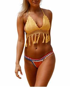 f6235554938c Bikinis,trikinis Crochet - Vestuario y Calzado en Mercado Libre Chile