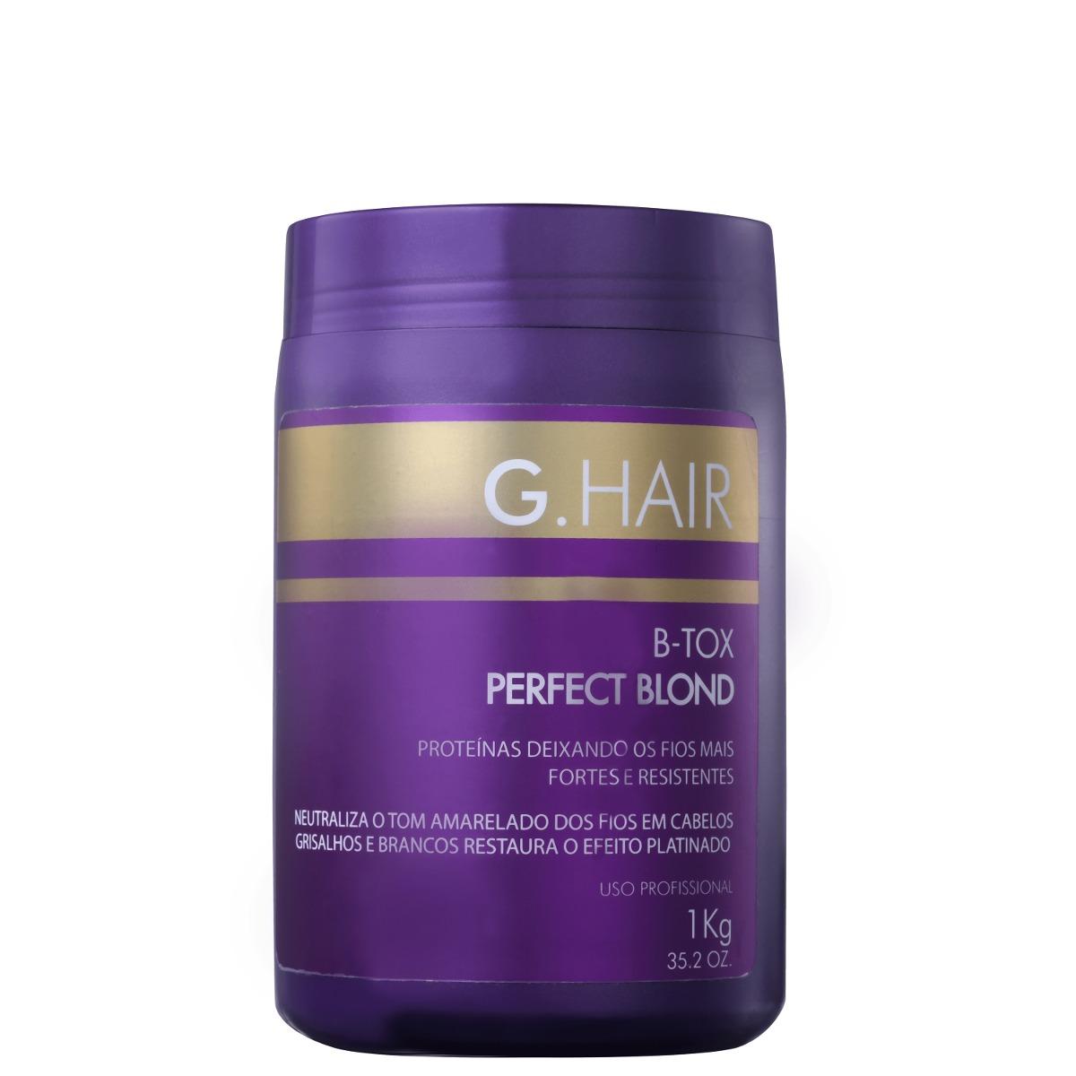 43525fa52 G.hair Perfect Blond B-tox - Máscara 1000g Blz - R$ 45,90 em Mercado ...