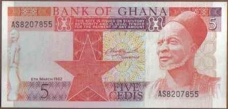 ghana, 5 cedis 6 mar 1982 p19c