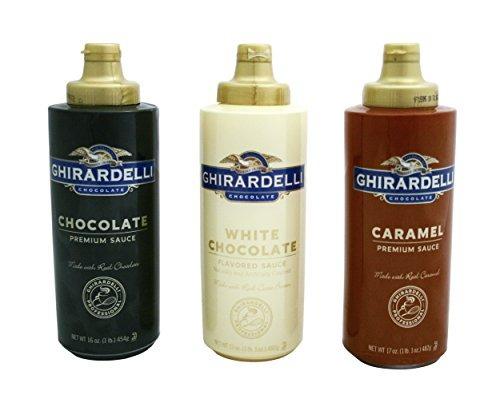 ghirardelli chocolate, chocolate blanco y salsas aromatizada