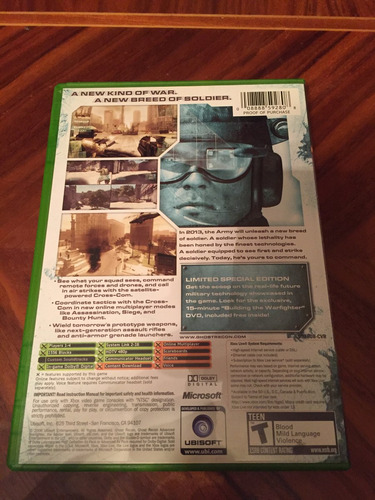 ghost recon advanced warfighter limited edition xbox clásico