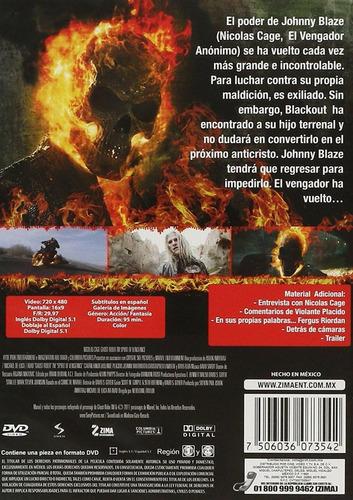 ghost rider 2 dos espiritu de venganza pelicula dvd