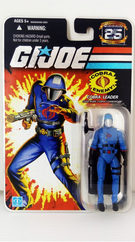 g.i. joe: 25th silver cobra leader cobra commander