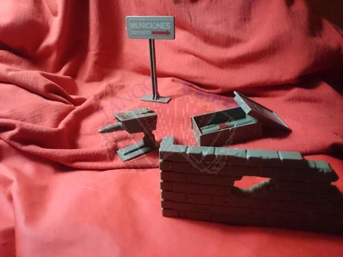 g.i. joe / defensa aérea,bivouac y def.misiles (1984) hasbro