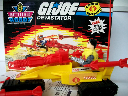 g.i. joe devastator vehiculo + figura