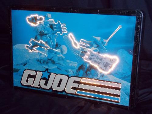 gi joe letrero luminoso fibra optica, juguete antiguo vintag