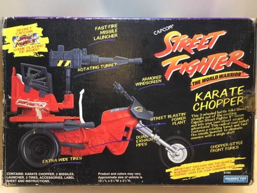 gi joe raro veículo street fighter & estrela! capcom 1993!