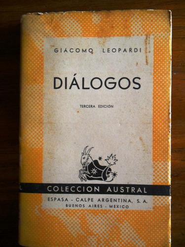 giacomo lopardi  dialogos  usado  austral
