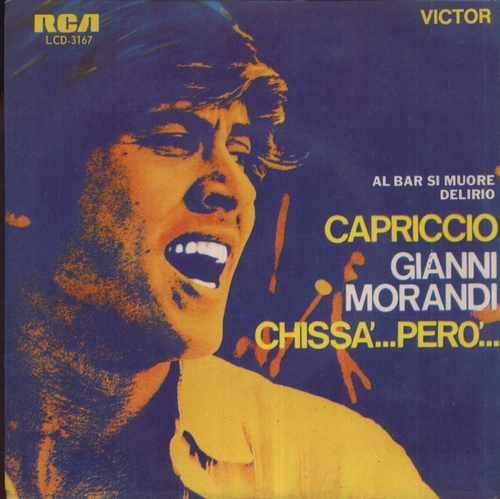 gianni morandi compacto de vinil capriccio - 1971 mono