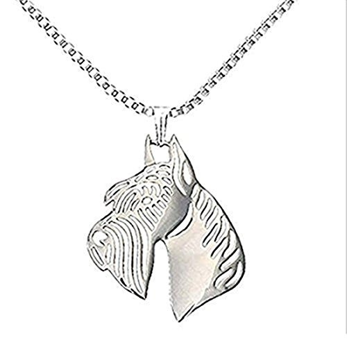 Giant schnauzer dog animal pendant silver plated dog 51777 en giant schnauzer dog animal pendant silver plated dog aloadofball Image collections