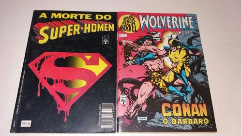 gibi a morte do super-homem e wolverine combate 39 conan