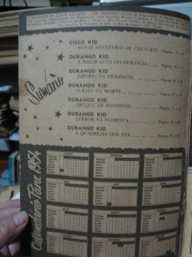 gibi almanaque album gigante 1954 cisco kid novas aventuras