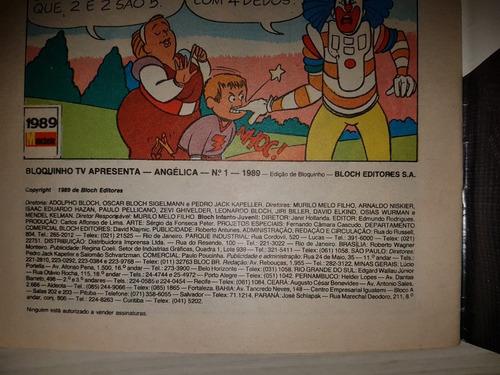 gibi angélica quadrinhos nº 1 editora bloch 1989