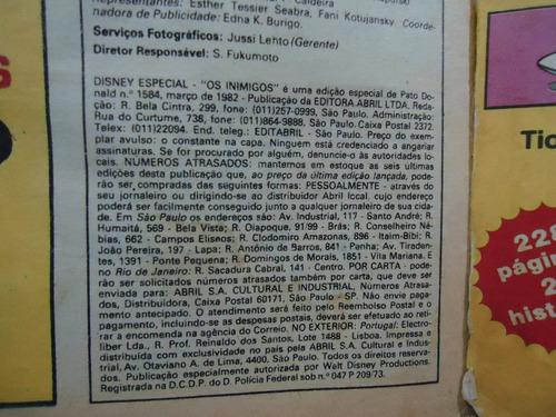 gibi disney especial - os inimigos nº 63- março 1982