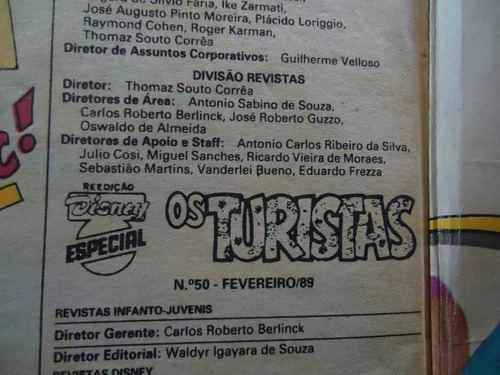 gibi disney especial - os turistas nº50- fevereiro 89