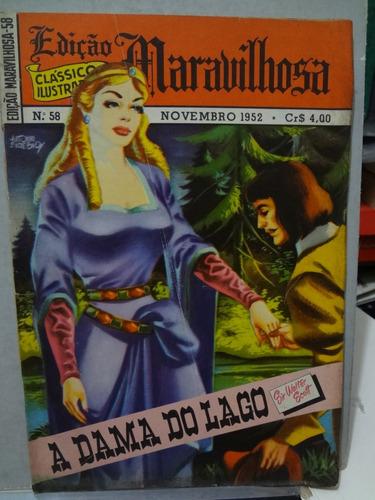 gibi edição maravilhosa nº 58 a dama do lago 1952