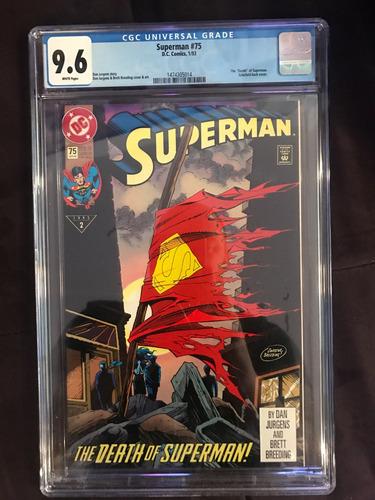 gibi hq a morte do super homem original cgc autenticado 1993